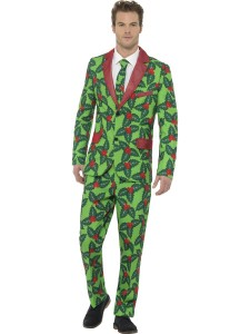 adult stand out holly berry suit 44902