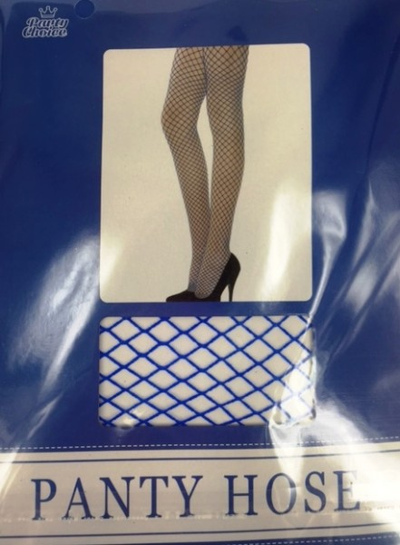 FISHNET STOCKING PANTYHOSE, BLUE | Party Online