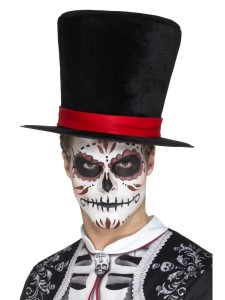 day of the dead top hat black 2000x