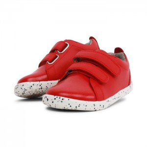 634904 Waterproof Grass Court Sneaker Red