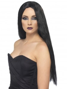 Black 61cm Witch Wig