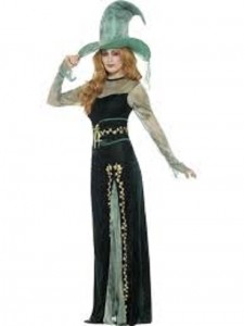 Deluxe Emerald Witch Costume v2