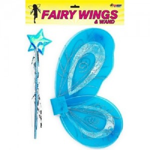 FAIRY WINGS WAND BLUE