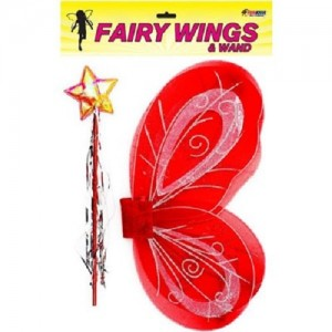FAIRY WINGS WAND RED