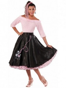 Poodle Skirt Black Std