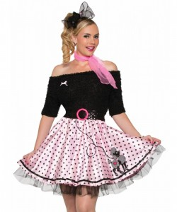 Poodle Skirt Pink With Polka Dots Std