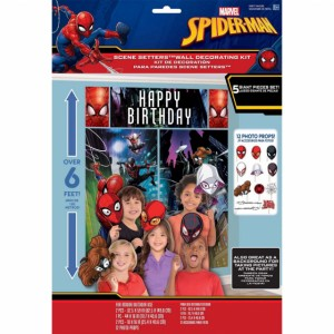 SPIDER MAN WEBBED WONDER SCENE SETTER WITH PROPS