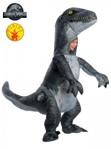 VELOCIRAPTOR BLUE INFLATABLE WITH SOUND CHILD