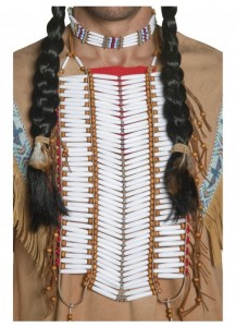 Western Authentic Indian Breastplate Smiffys Fancy Dress Costume Accessory