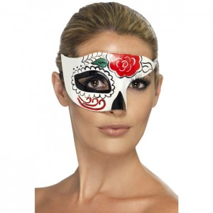 day of dead half mask