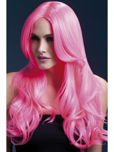 fever khloe wig neon pink 2000x