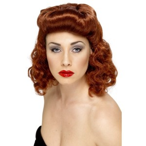 sm 42223 1940 s auburn pin up girl wig a1